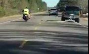 Буксировка мотоцикла до добра не доводит
