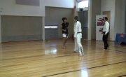 Taekwondo athlete vs Muay Thai fighter - Knockout & Broken nose
