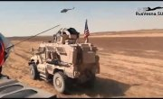 Российский БТР протаранил американский броневик в Сирии