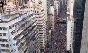 Гонконг. Миллион человек вышли на улицы в знак протеста.