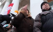Восстание белорусов. Митинг против налога на тунеядство в Витебске.