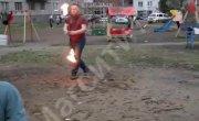 В Магнитогорске артист фаер-шоу чуть не сгорел