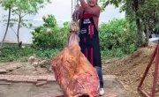 Готовим мясо с рисом необычным способом .