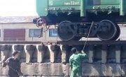 Выгрузка вагонов с каменным углём