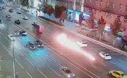 Огненная авария почти на том же самом месте, где устроил смертельное ДТП Михаил Ефремов