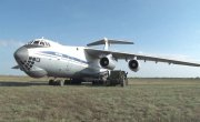 Посадка и взлёт Ил-76МД на грунтовом аэродроме под Оренбургом