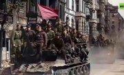 Первый парад в Берлине 4 мая 1945 (реставрация нейросетями)